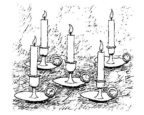 свеча рисунок: